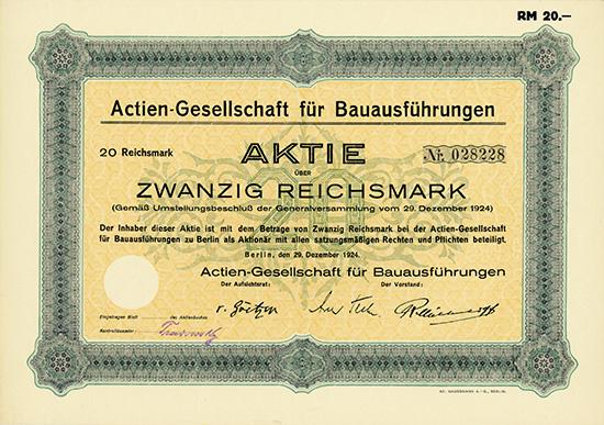 AG für Bauausführungen