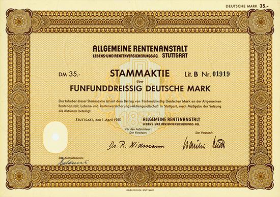 Allgemeine Rentenanstalt Lebens- und Rentenversicherungs-AG