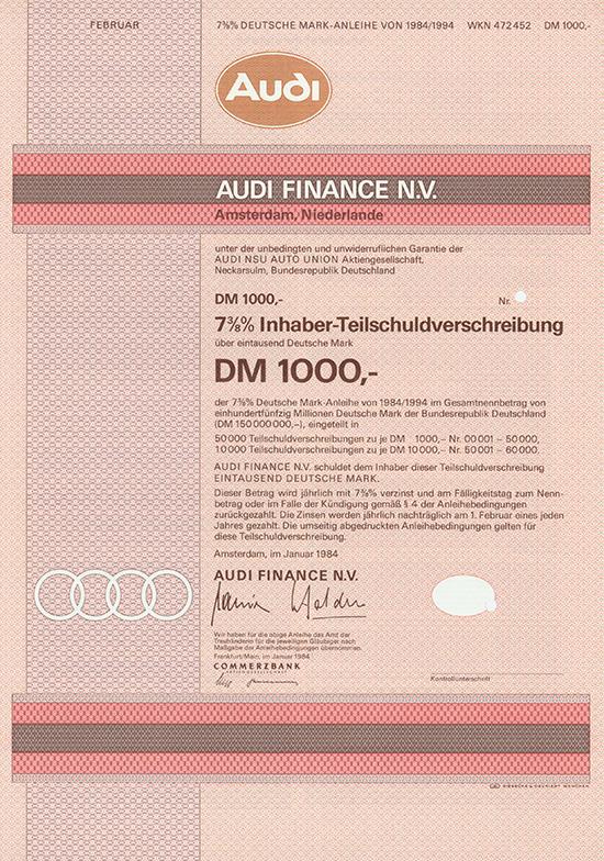 Audi Finance N.V.