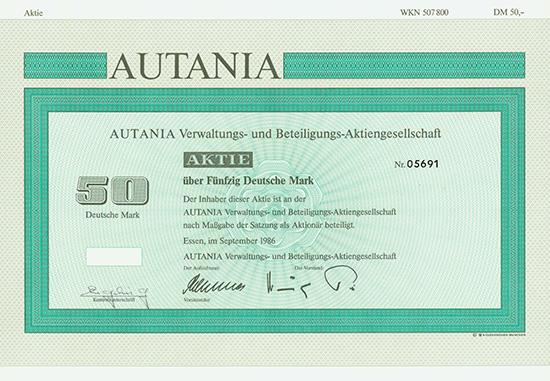 AUTANIA Verwaltungs- und Beteiligungs-AG