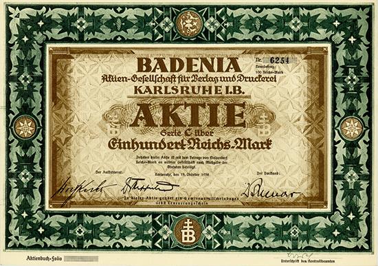 BADENIA AG für Verlag und Druckerei