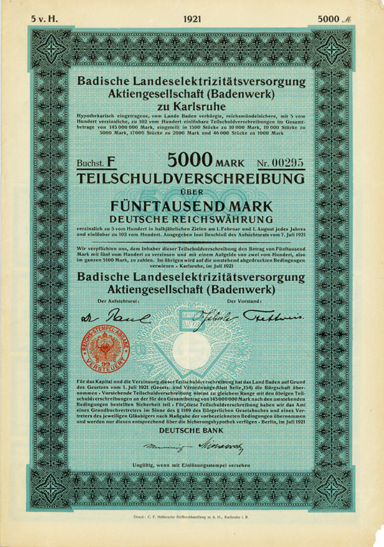 Badische Landeselektrizitätsversorgung AG (Badenwerk)