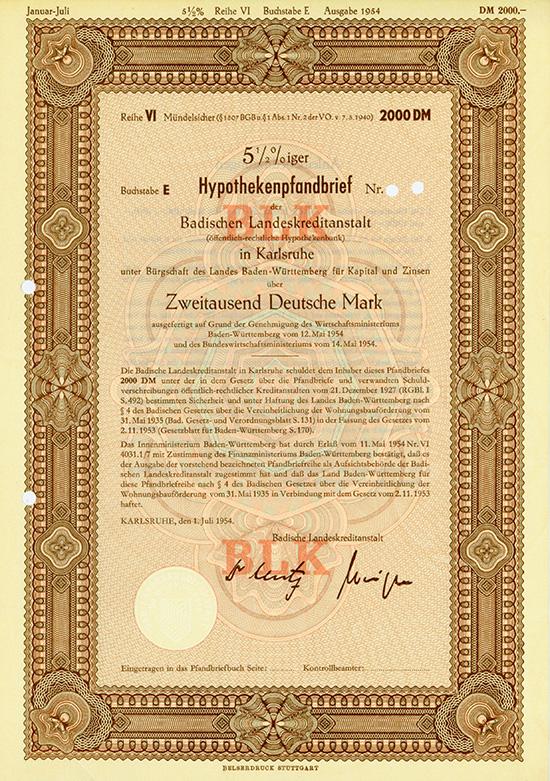Badische Landeskreditanstalt (Öffentlich-Rechtliche Hypothekenbank)