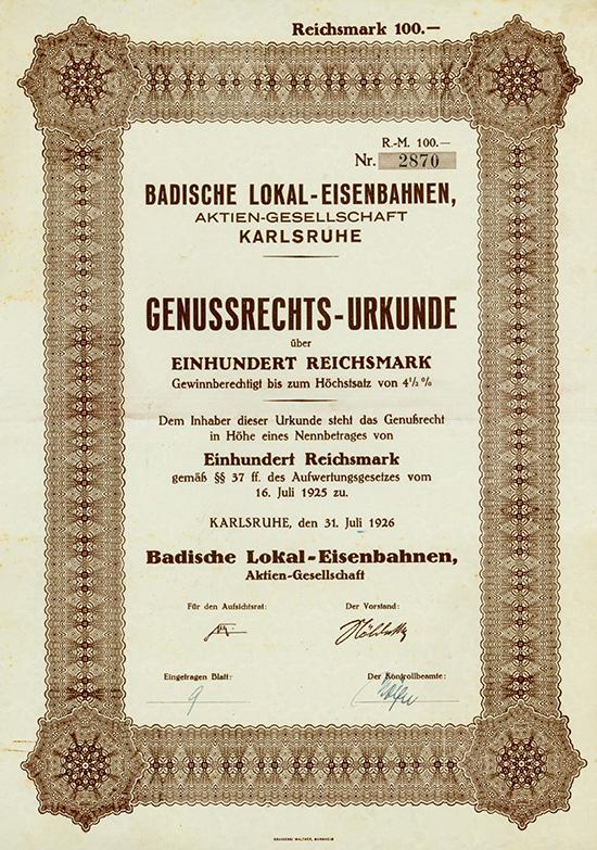 Badische Lokal-Eisenbahn AG