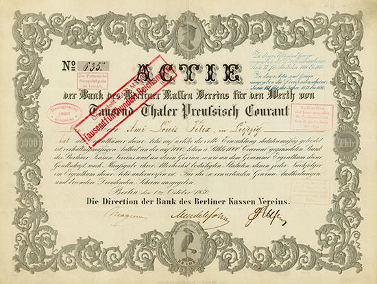 Bank des Berliner Kassen-Vereins