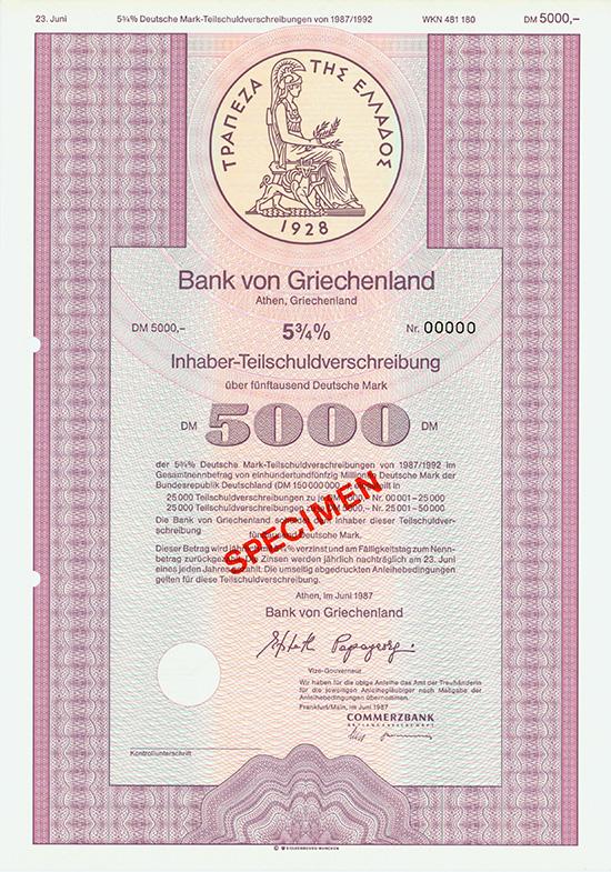 Bank von Griechenland