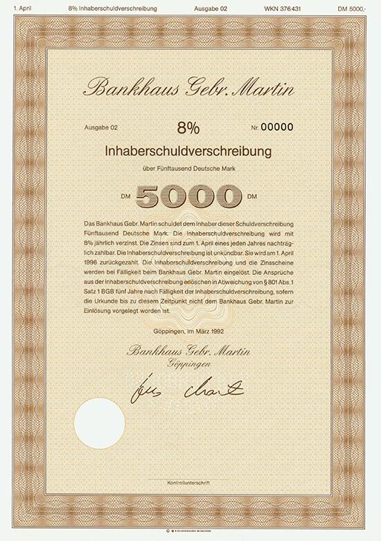 Bankhaus Gebr. Martin