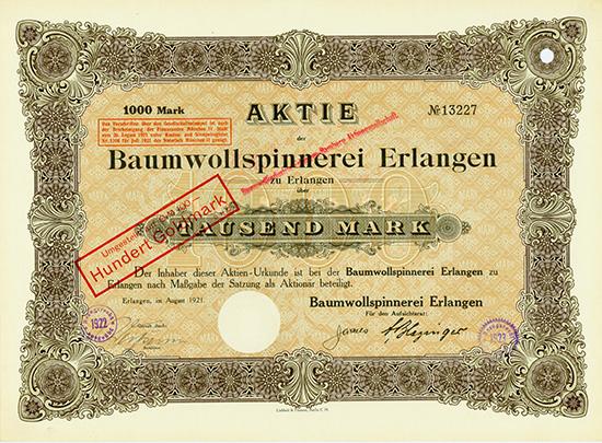 Baumwollspinnerei Erlangen [5 Stück]