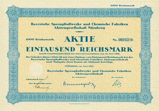 Bayerische Sprengstoffwerke und Chemische Fabriken AG