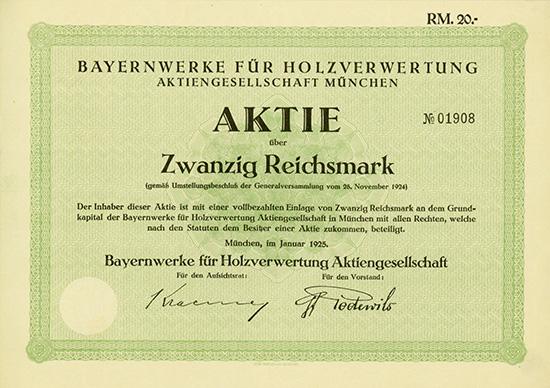 Bayernwerke für Holzverwertung AG