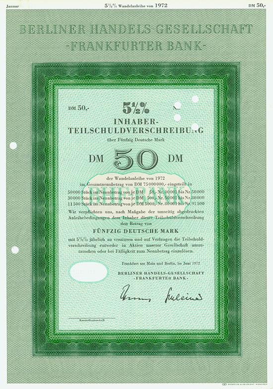Berliner Handels Gesellschaft - Frankfurter Bank