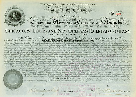 Chicago, St. Louis and New Orleans Railroad Company