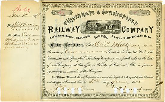 Cincinnati & Springfield Railway Company