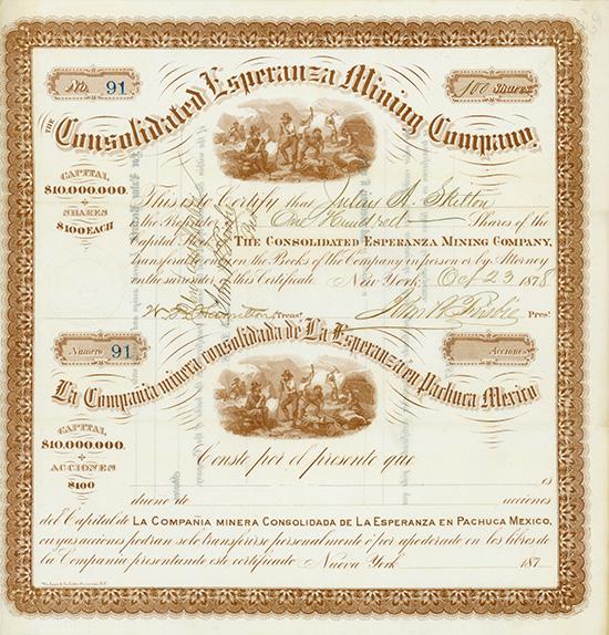Consolidated Esperanza Mining Company / La Compania minera consolidada de