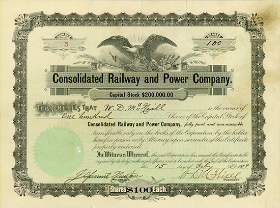 Consolidated Railway and Power Company