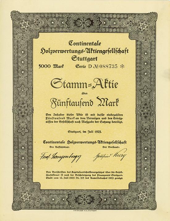 Continentale Holzverwertungs-AG