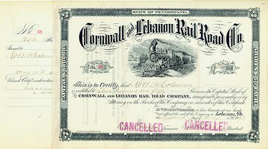 Cornwall and Lebanon Rail Road Co.