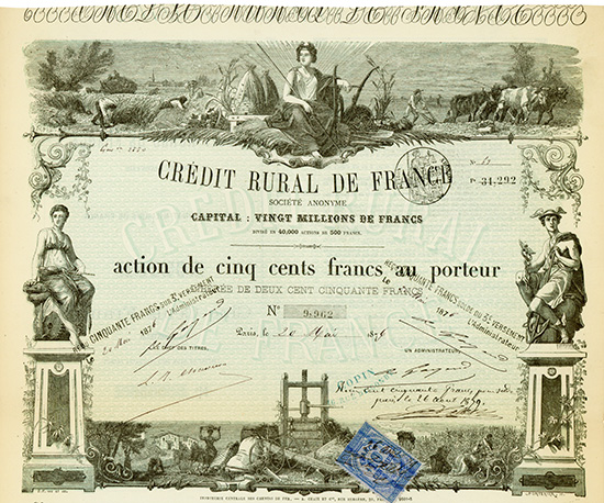 Credit Rural de France Societe Anonyme