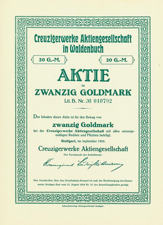 Creuzigerwerke AG