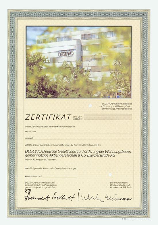 DEGEWO Deutsche Gesellschaft zur Förderung des Wohnungsbaues, gemeinnützige AG