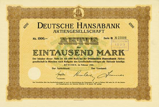 Deutsche Hansabank AG