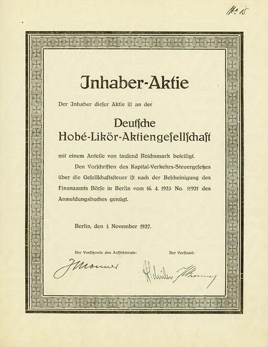 Deutsche Hobé-Likör-AG