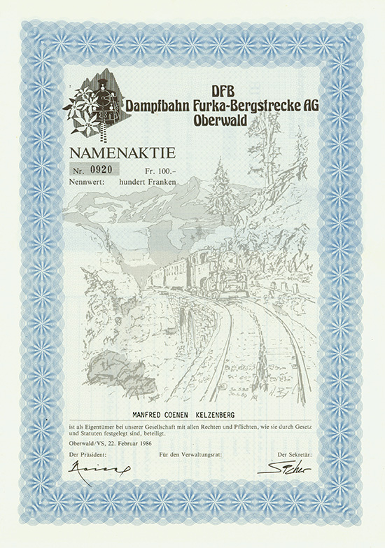 DFB Dampfbahn Furka-Bergstrecke AG