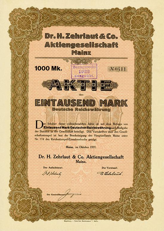 Dr. H. Zehrlaut & Co. AG