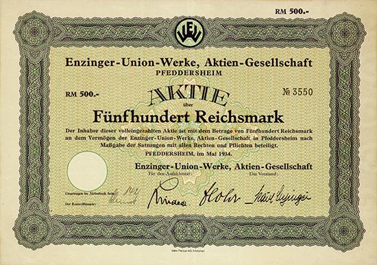 Enzinger-Union-Werke, AG