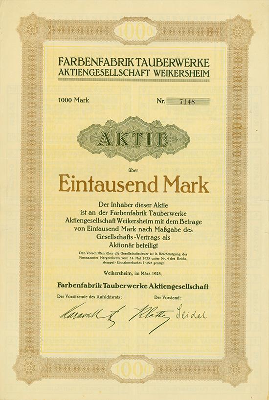 Farbenfabrik Tauberwerke AG