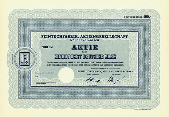 Feintuchfabrik, AG