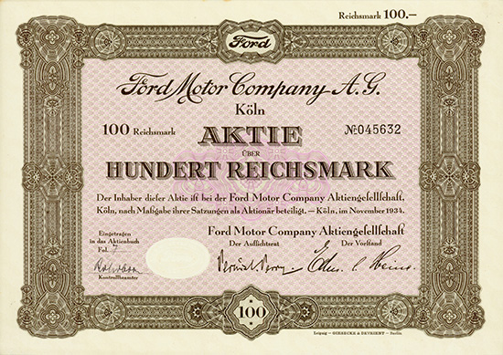 Ford Motor Company AG
