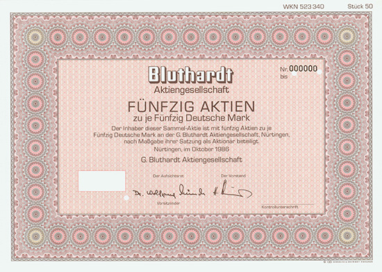 G. Bluthardt AG