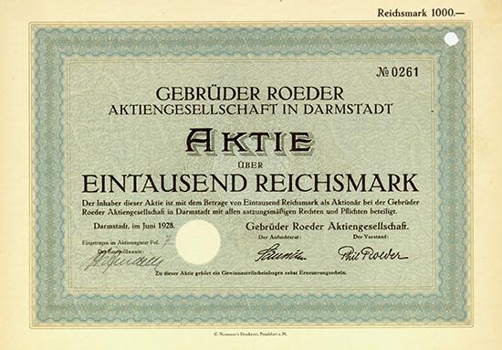 Gebrüder Roeder AG