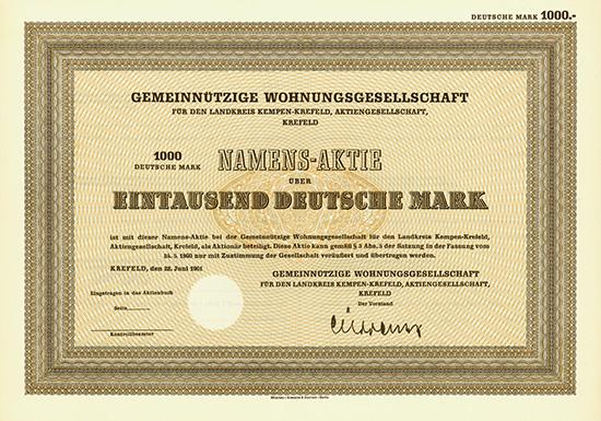 Gemeinnützige Wohnungsgesellschaft für den Landkreis Kempen-Krefeld, AG