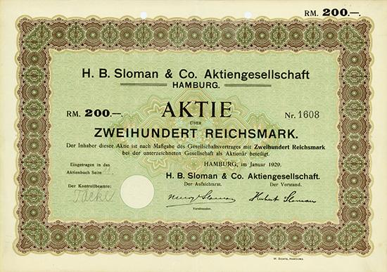 H. B. Sloman & Co. AG