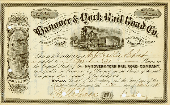 Hanover & York Rail Road Co.
