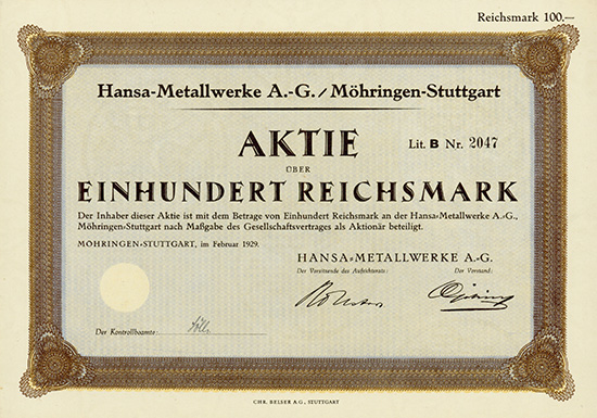 Hansa-Metallwerke AG