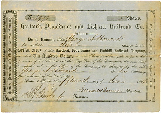 Hardford, Providence and Fishkill Railroad Company