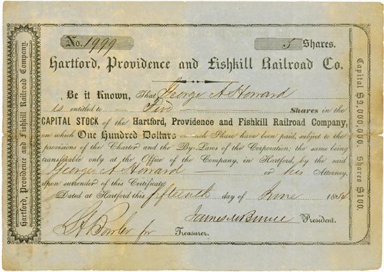 Hardford, Providence and Fishkill Railroad Company