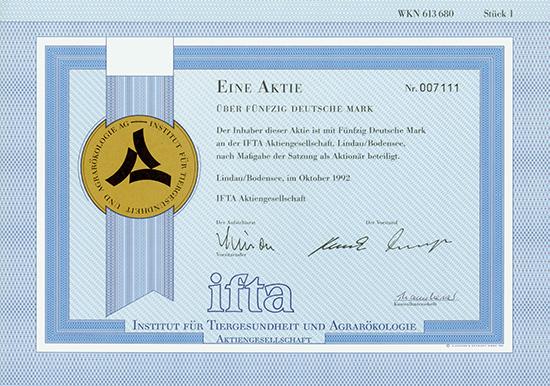 ifta Institut für Tiergesundheit und Agrarökologie AG
