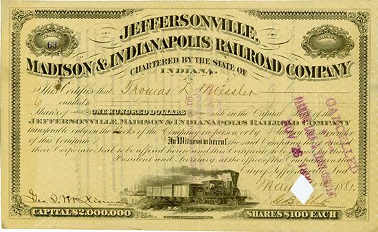 Jeffersonville, Madison & Indianapolis Railroad