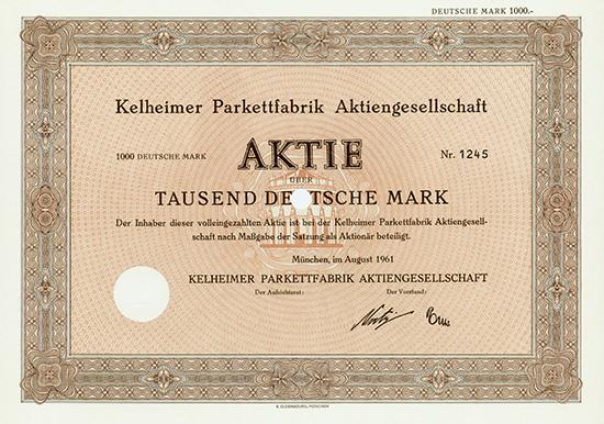 Kelheimer Parkettfabrik AG
