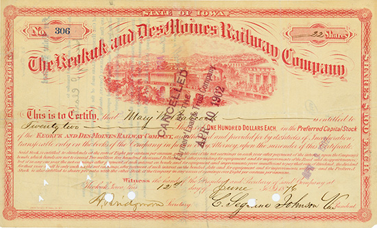 Keokuk and Des Moines Railway Company