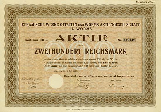 Keramische Werke Offstein und Worms AG
