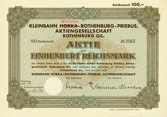 Kleinbahn Horka-Rothenburg-Priebus AG
