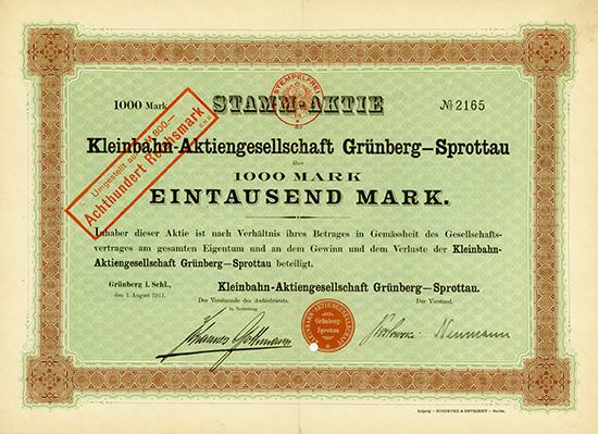 Kleinbahn-AG Grünberg-Sprottau