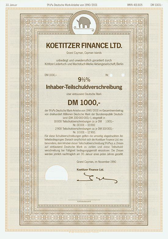 Koetitzer Finance Ltd.