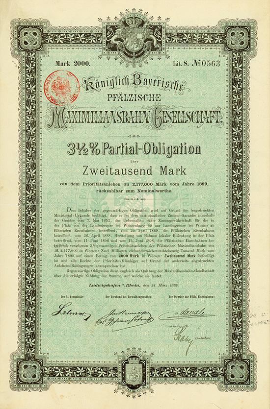 Königlich Bayerische Pfälzische Maximiliansbahn-Gesellschaft