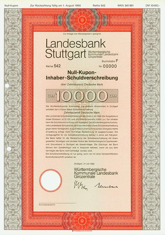 Landesbank Stuttgart - Württembergische Kommunale Landesbank Girozentrale